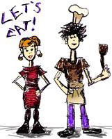 Let's Eat! Doodle via foobella.blogspot.com